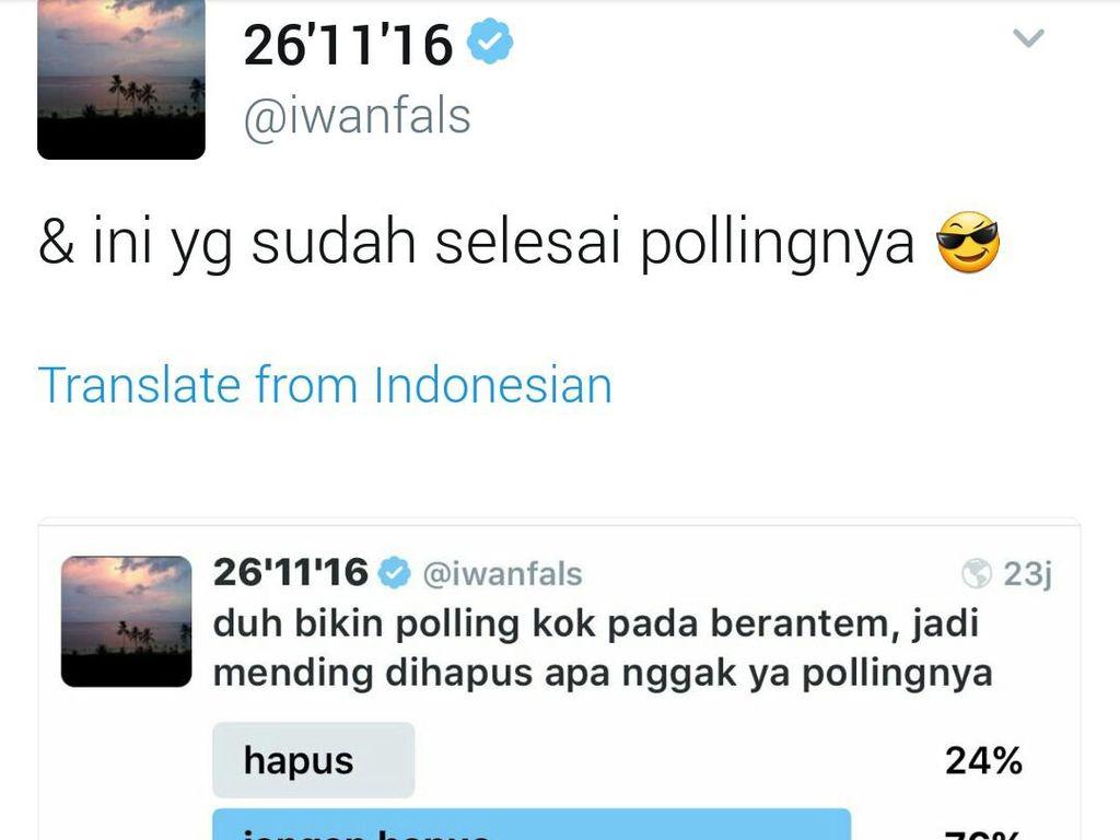 Ramai di Medsos, Iwan Fals Bikin Polling Pilkada DKI: Siapa Menang?
