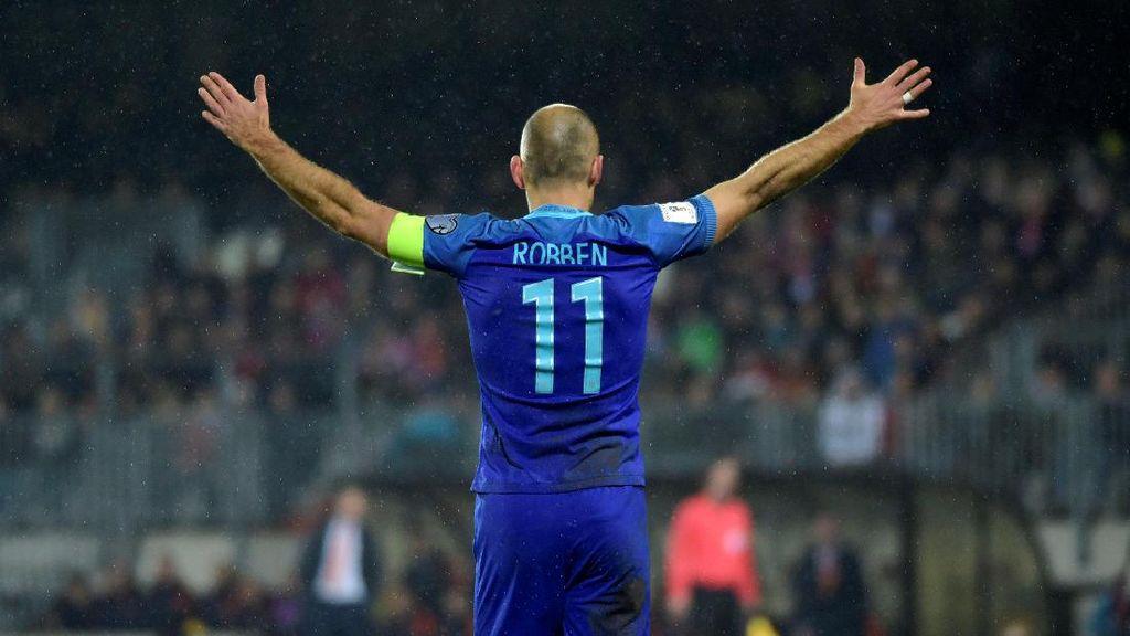Comeback Robben di Timnas Belanda: Gol dan Cedera