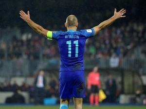 <i>Comeback</i> Robben di Timnas Belanda: Gol dan Cedera