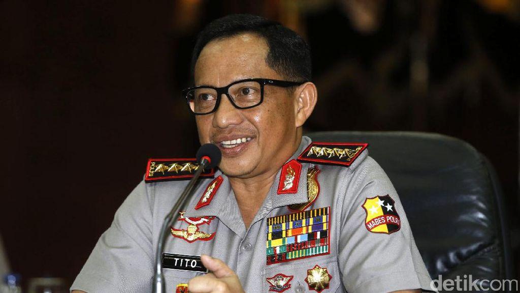 Kapolri Datangi Komisi III DPR untuk Jelaskan Kasus Makar