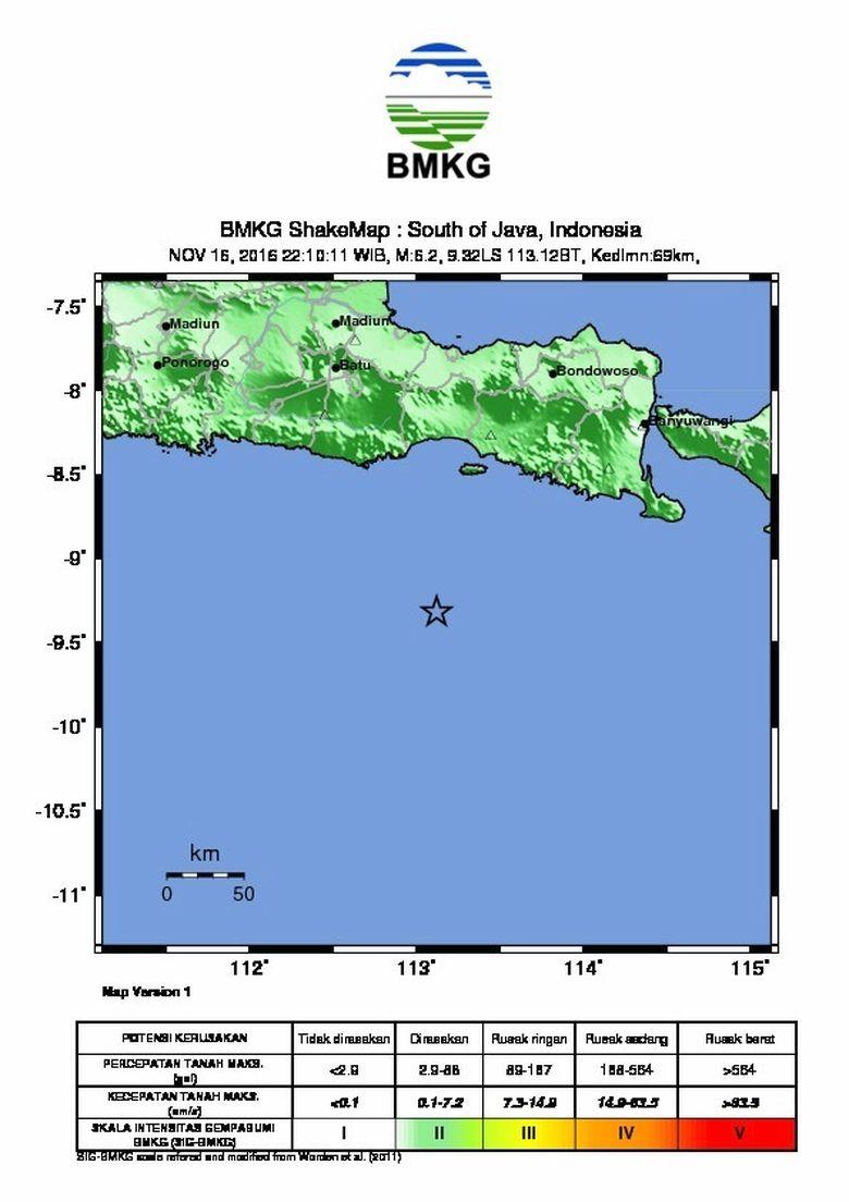 BNPB Pastikan Tak Ada Korban Jiwa Akibat Gempa 5,8 SR di Malang