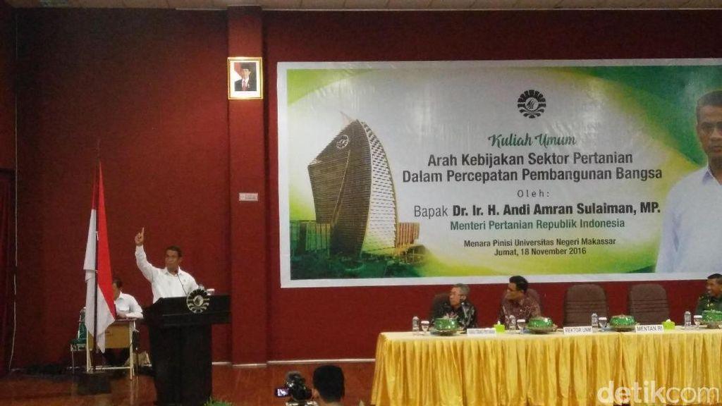 Beri Kuliah Umum di Makassar, Mentan: Kami Arahkan 8.000 Lulusan ke Pertanian