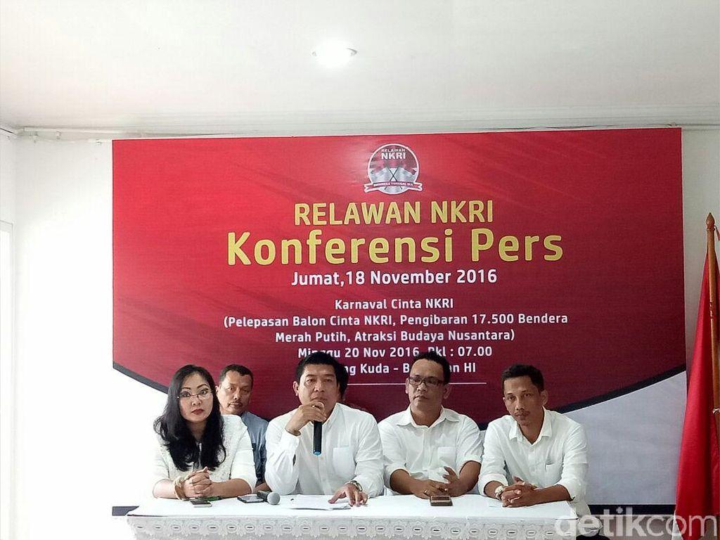 17.500 Bendera Merah Putih Dikibarkan di Karnaval Cinta NKRI