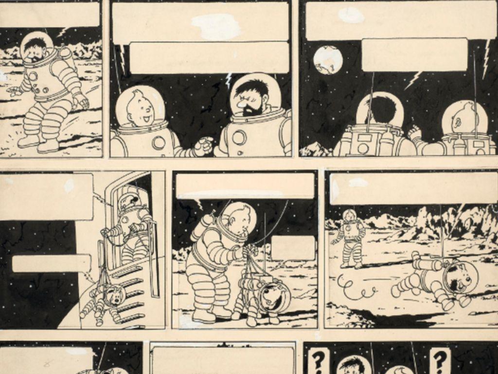 Rekor! Selembar Halaman Komik Tintin Terjual Rp 22 Miliar