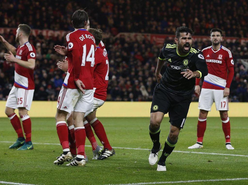 Kalahkan Middlesbrough, Chelsea Rebut Puncak Klasemen