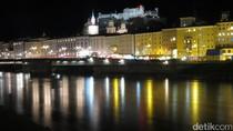 Salzburg di Austria, Kota Mozart yang Romantis Saat Malam