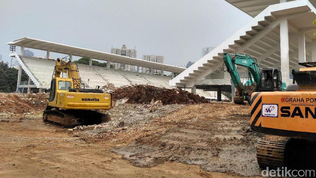Renovasi Stadion Akuatik di GBK Terkendala Cuaca