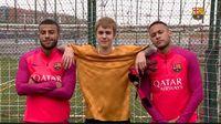 Mampir ke Latihan Barca, Justin Bieber Duel dengan Neymar dan Rafinha
