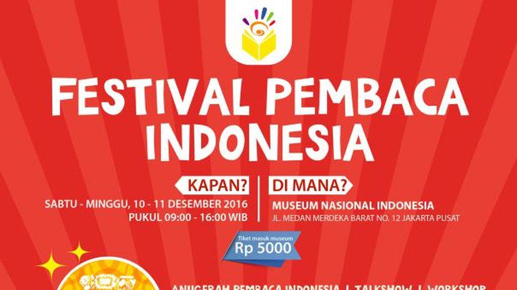 Festival Pembaca Indonesia Hadir Lagi, Pilih Penulis dan Buku Favoritmu!