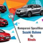 Komparasi Spesifikasi Suzuki Baleno dengan Penantangnya