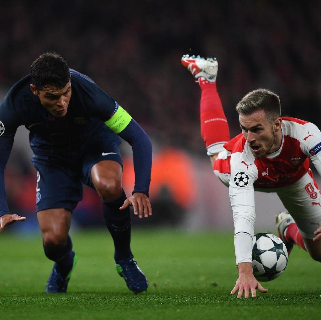 Ketika Gol Lebih Banyak dari Jumlah Tembakan Tepat Sasaran di Laga Arsenal vs PSG
