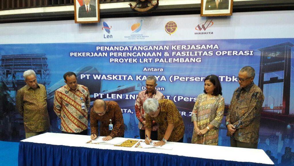 Waskita Karya Gandeng PT Len Industri Garap Fasilitas Operasi LRT Palembang