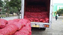 Polisi Kembali Amankan Bawang Merah Asal India, Kali Ini Beratnya 12 Ton