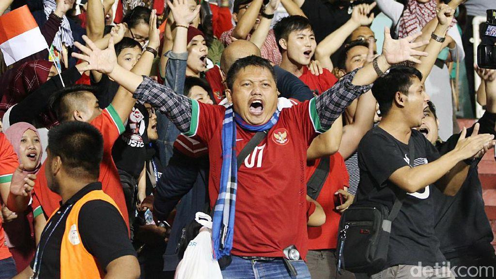 Begini Semangat Suporter Garuda di Filipina
