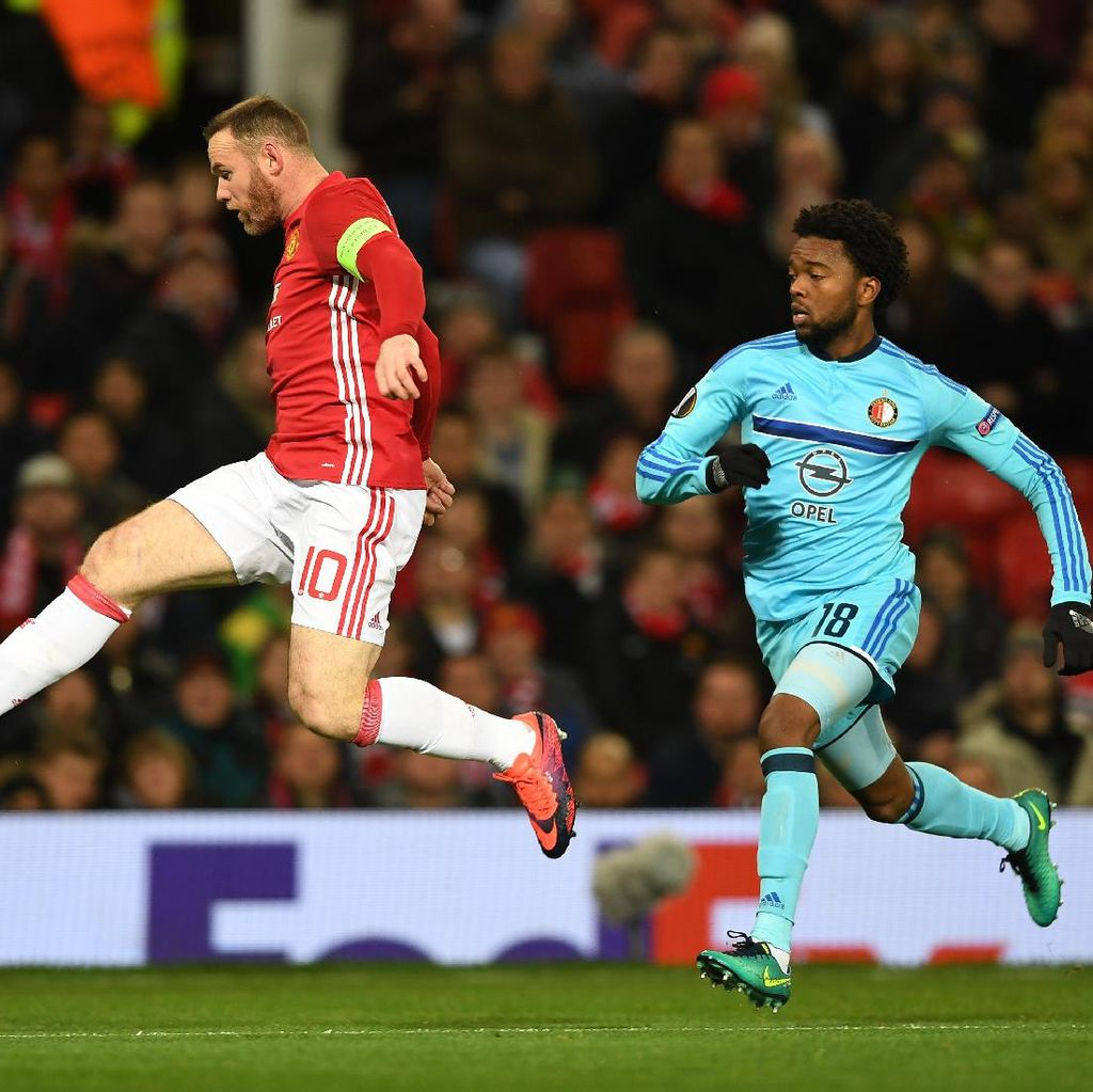 Dua Torehan Rooney Usai Kemenangan atas Feyenoord
