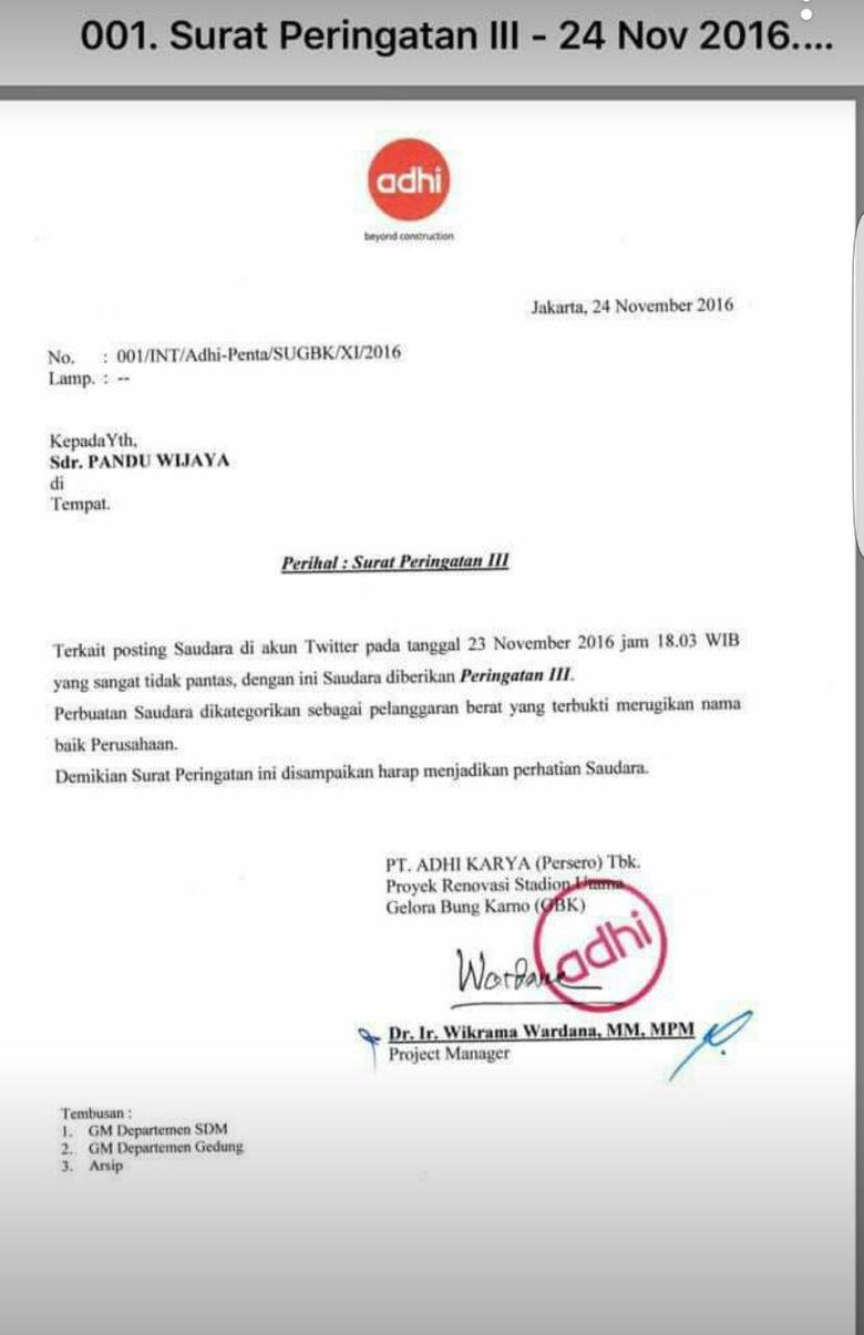 Karyawan PT Adhi Karya Di-SP3 Gara-gara Hina Gus Mus di Twitter