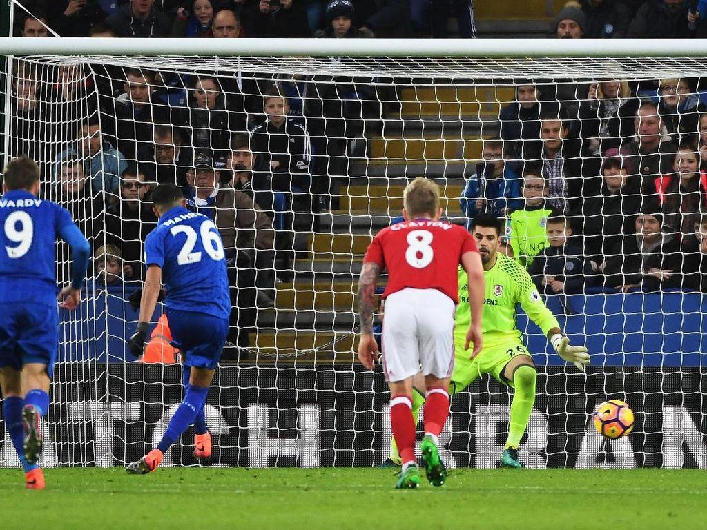 Gol Islam Slimani di Injury Time Selamatkan Leicester dari Kekalahan