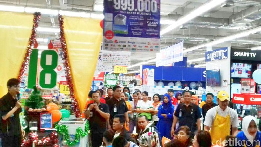 Kesempatan Terakhir Dapat TV LG 32 Rp 999.000 di Transmart Carrefour