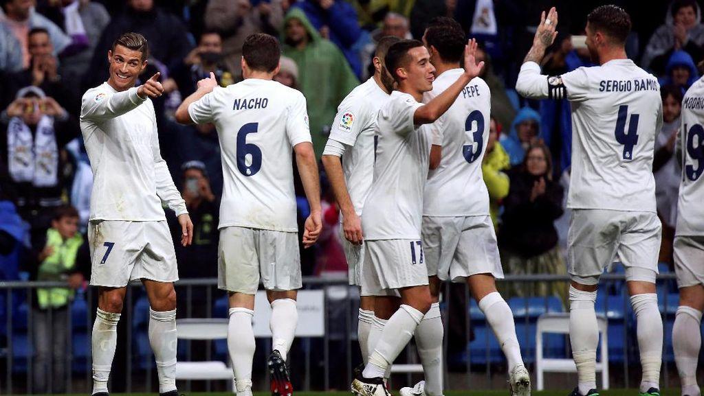 Bekap Sporting Gijon 2-1, Madrid Mantap di Posisi Puncak