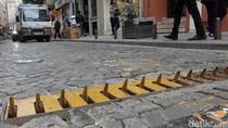 Wujud Jebakan Paku di Jalanan Kawasan Wisata Turki