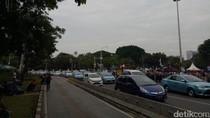 Demo Buruh di Monas Bikin Lalin Tersendat
