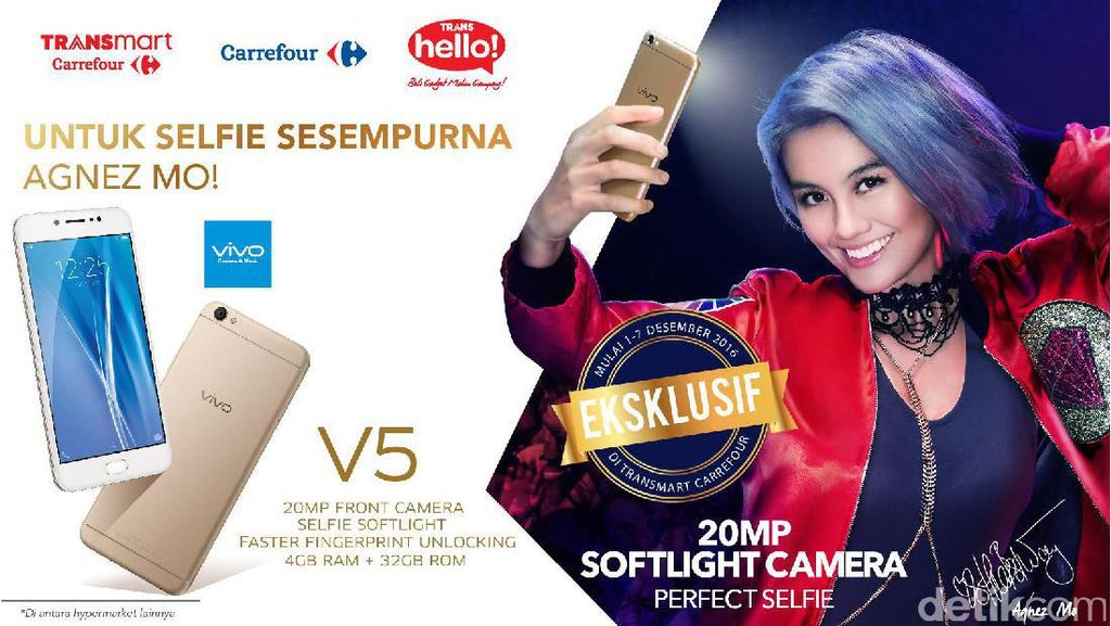Promo Cicilan 0% Handphone dan Launching Vivo V5 di Transmart Carrefour
