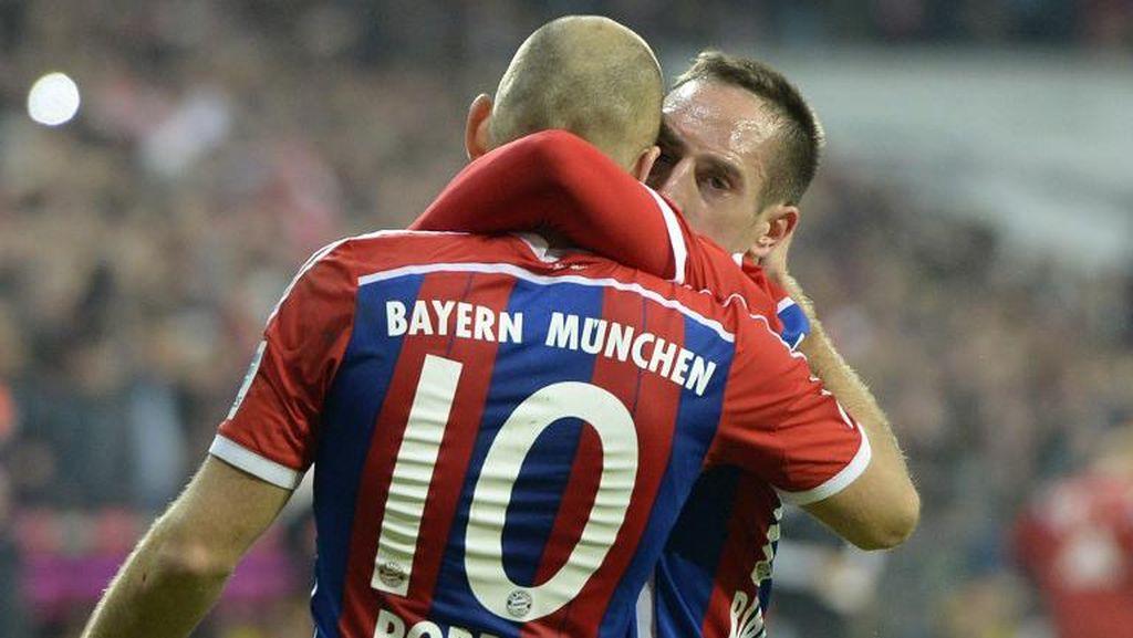 Ribery Berharap Bayern Pertahankan Robben