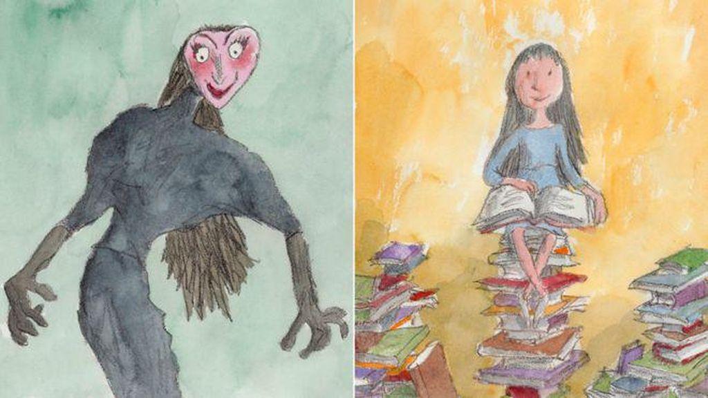 Ilustrasi Karakter Buku Roald Dahl Dipamerkan di Perpustakaan Inggris