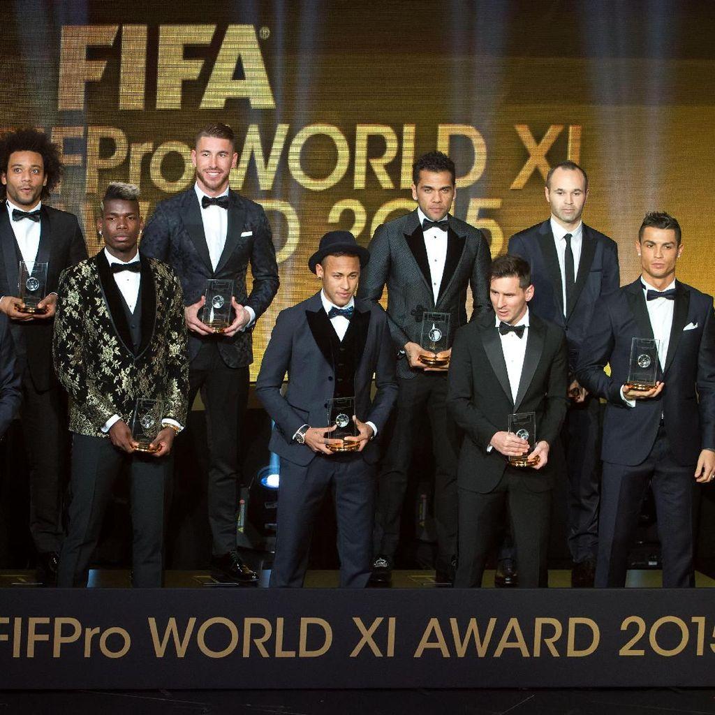 55 Pemain Masuk Nominasi Tim Terbaik FIFA 2016
