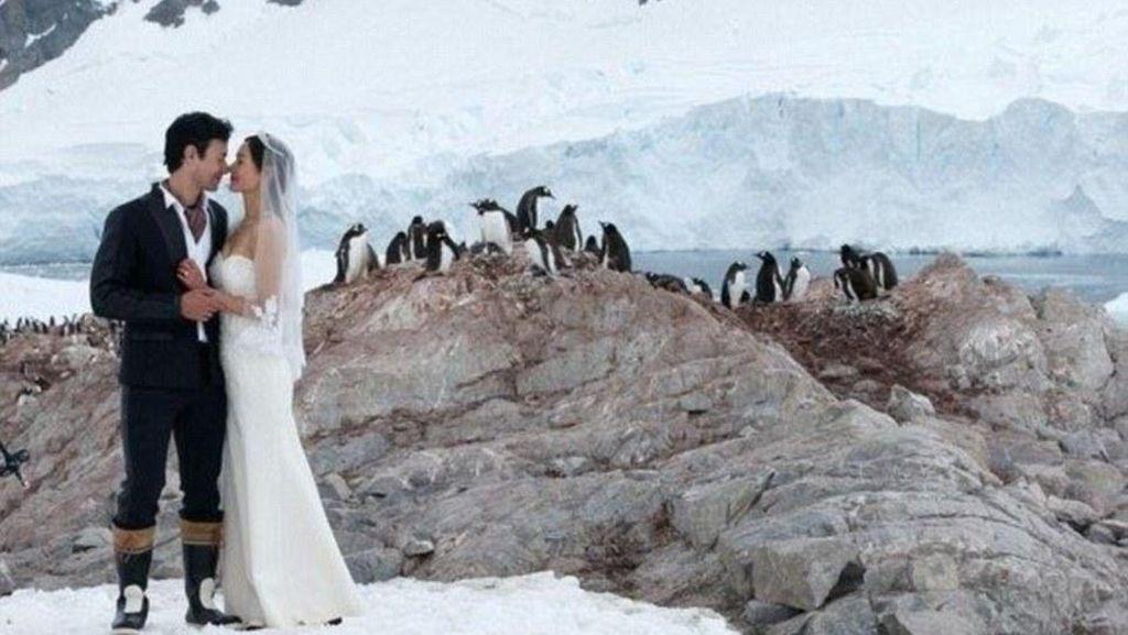 Dramatis, Foto Artis Taiwan yang Menggelar Pernikahan di Antartika