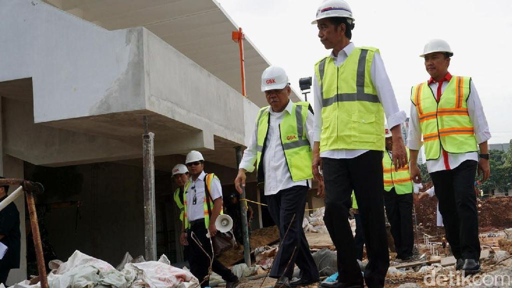 Jokowi Tinjau Pembangunan Arena Asian Games di GBK