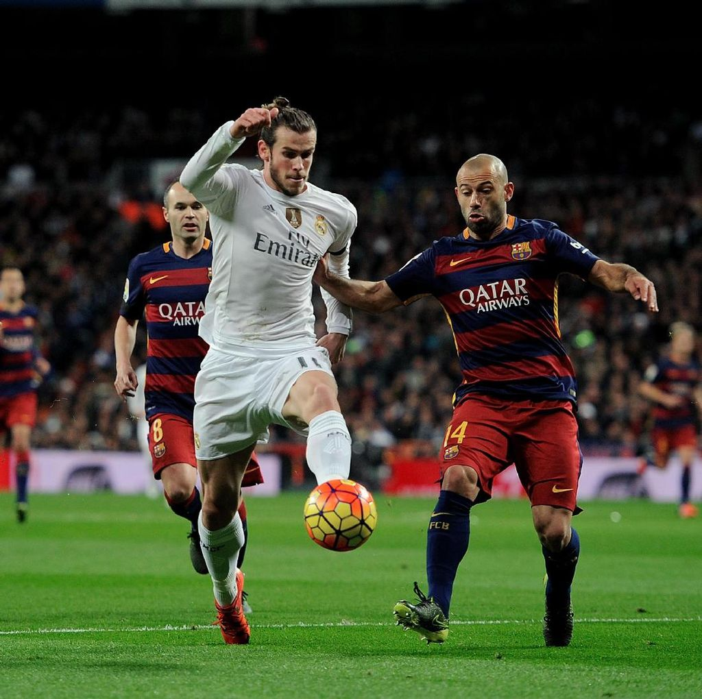 Mascherano: Absennya Bale Takkan Pengaruhi Madrid