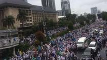 Pergerakan Massa Aksi 2 Desember Pasca Salat Jumat di Monas