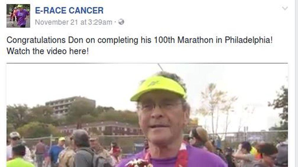 Inspiratif! Kakek Ini 100 Kali Lari Maraton Meski Idap Kanker Darah Langka