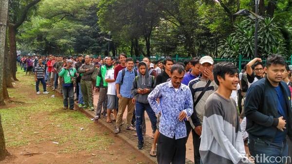 Penjualan Tiket di GBK Berbarengan dengan Tinjauan Presiden Jokowi