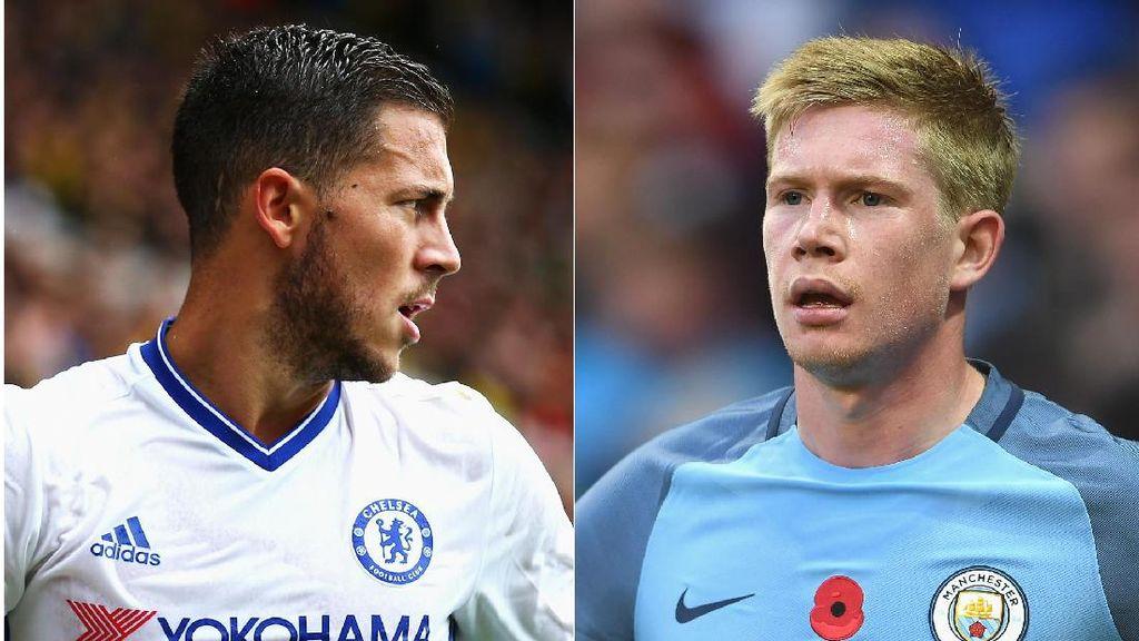 Duel Dua Gelandang Terbaik Belgia: De Bruyne vs Hazard