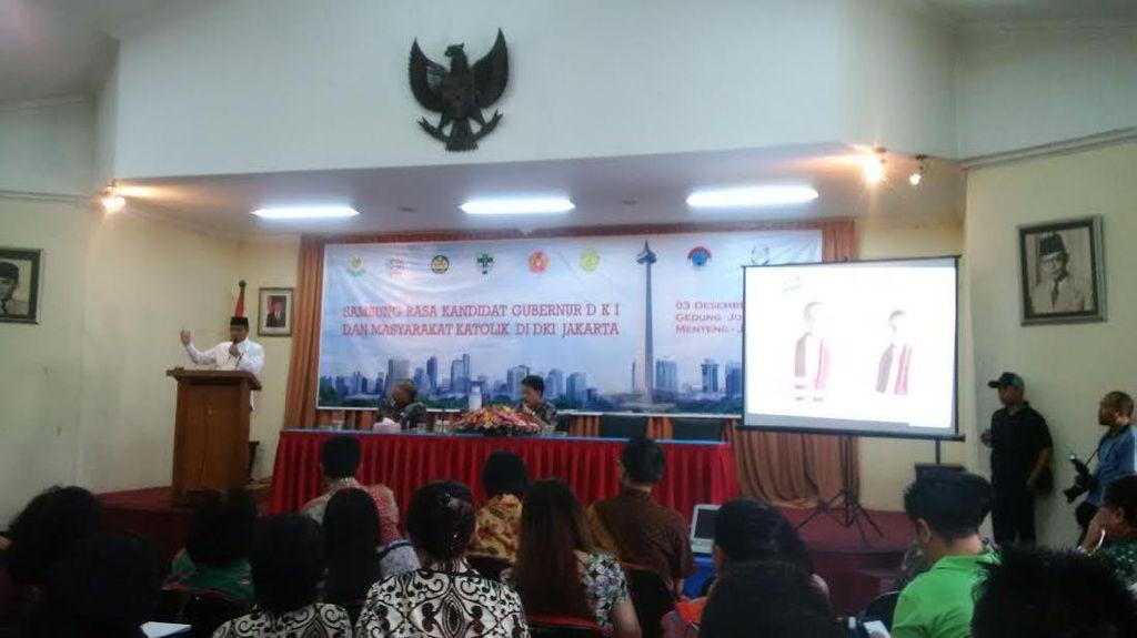 Sampaikan Visi dan Misi, Anies Hadiri Undangan Masyarakat Katolik Jakarta