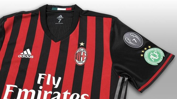 Ada Logo Chapecoense di <i>Jersey</i> Milan Pekan Ini