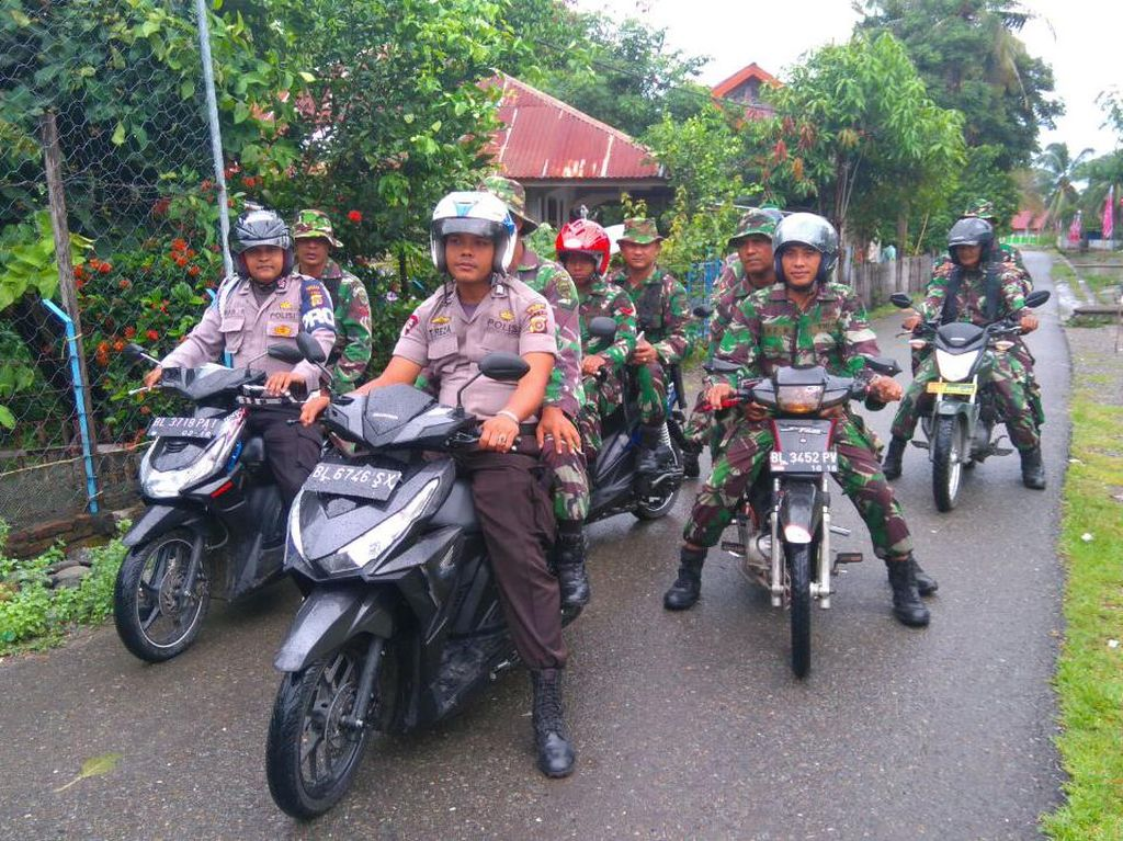 Cegah Pengibaran Bintang Bulan, TNI/Polri Patroli Bersama Jelang Milad GAM