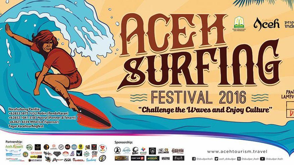 Gelar Festival Surfing, Aceh Promosi Pariwisata di Pantai Lampuuk