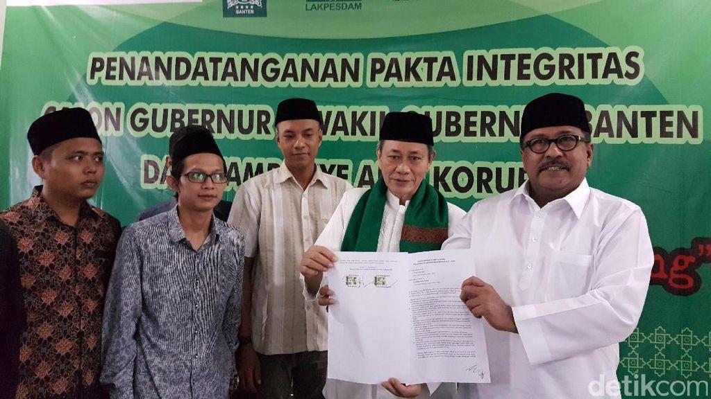 Tandatangani Pakta Integritas Lawan Politik Uang, Rano: Korupsi Kita Berantas