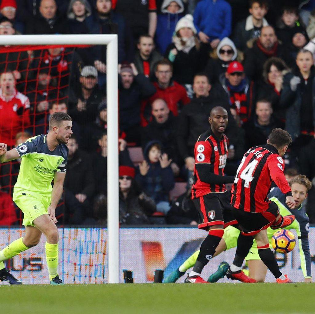 Buang Keunggulan Dua Gol, Liverpool Ditundukkan Bournemouth 3-4