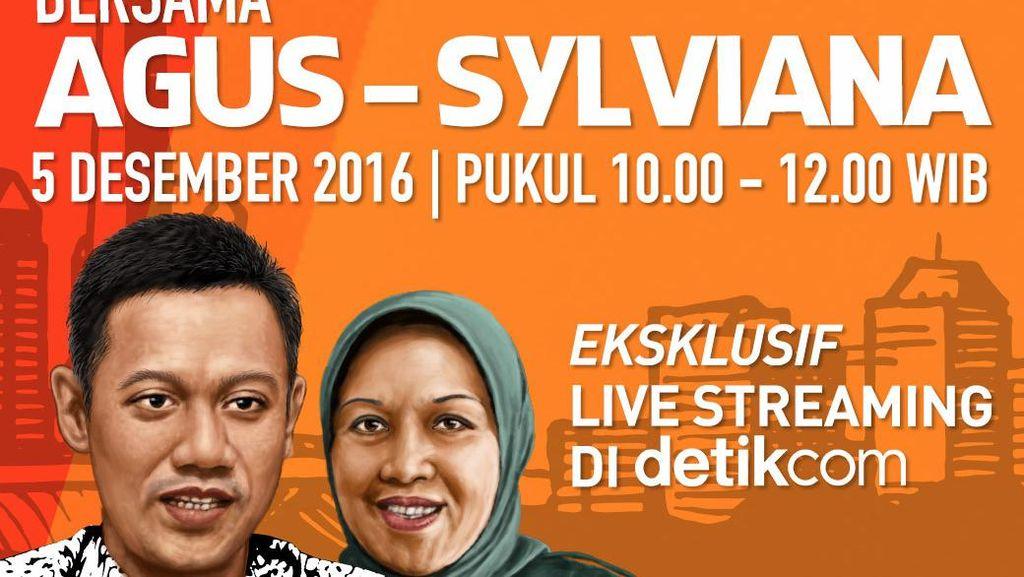 Tonton Blak-blakan Agus-Sylvi di Live Streaming Eksklusif detikcom 5 Desember