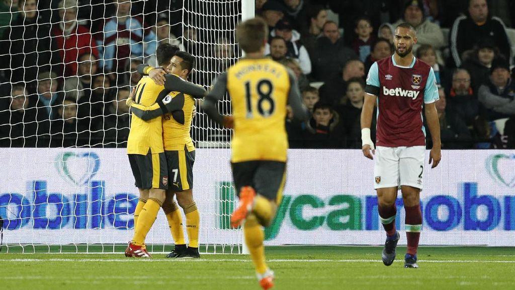 Arsenal Sementara Unggul 1-0 Atas West Ham