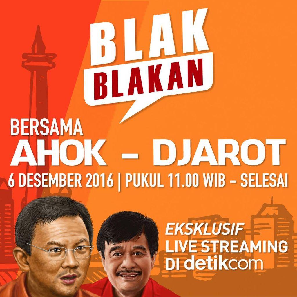 Ahok-Djarot Bakal Blak-blakan di Live Streaming Eksklusif detikcom 6 Desember