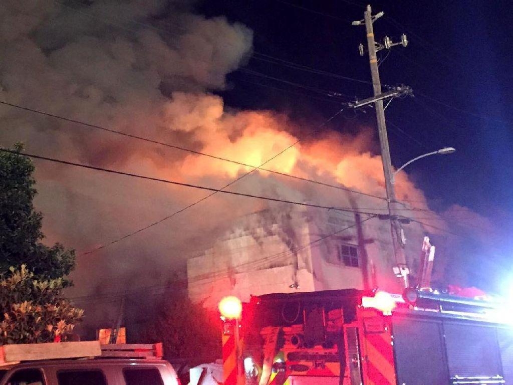 Gudang untuk Pesta di California Terbakar, 24 Orang Tewas