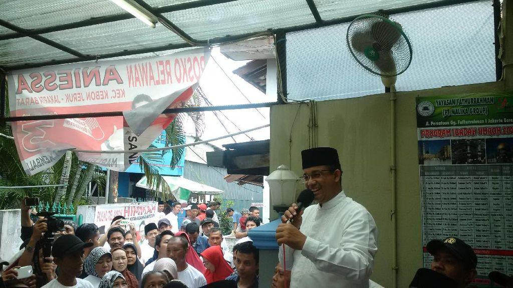 Anies Janji Libatkan Warga Jakarta di Program Pembangunan Pemprov DKI