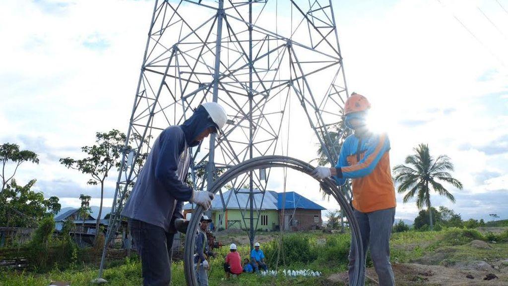 PLN Pasang Menara Transmisi Darurat Untuk Listrik Sulut-Gorontalo