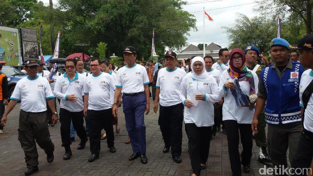 Mensos Khofifah Deklarasikan Yogyakarta Sebagai Kota Relawan