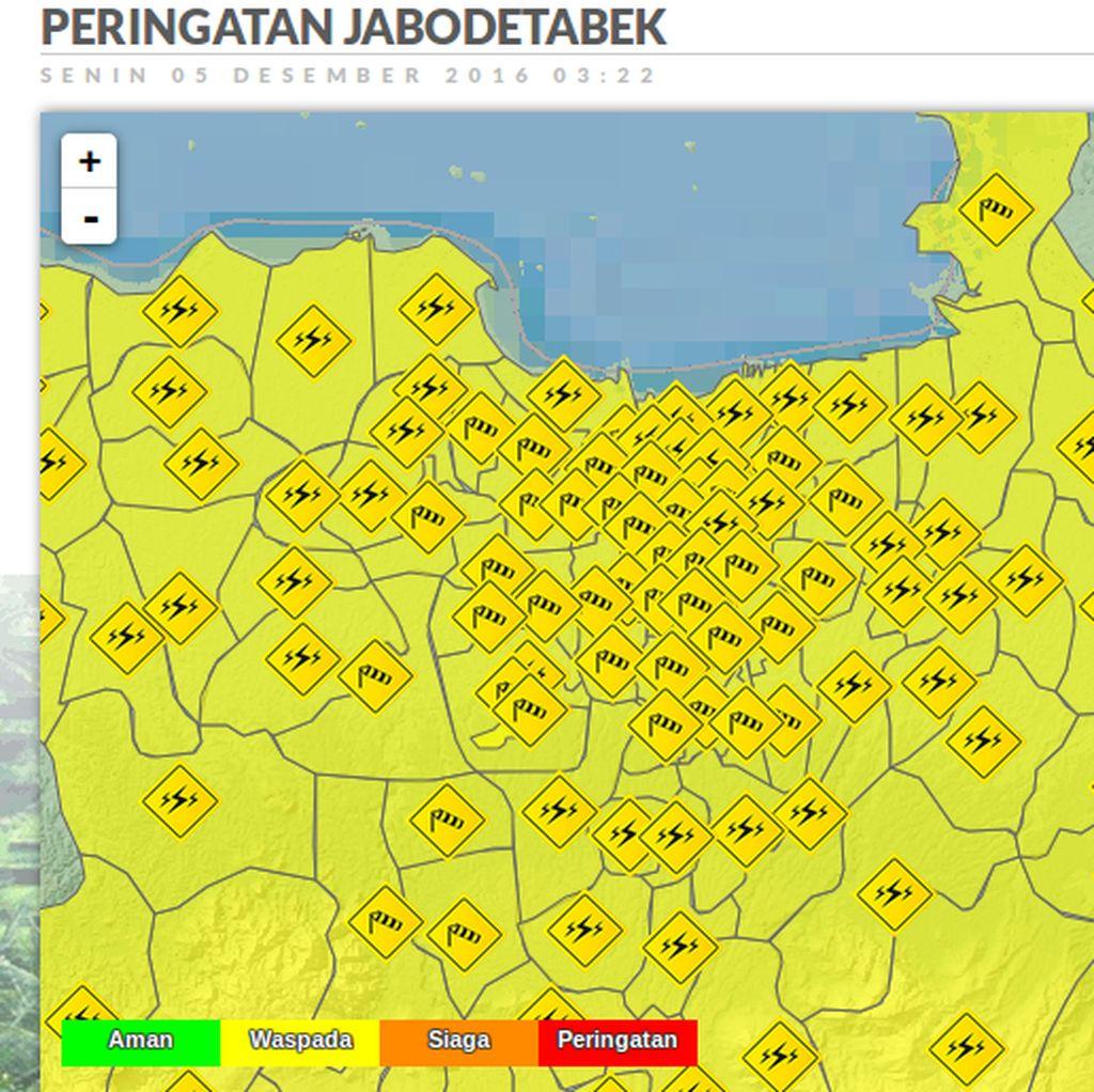 Waspada, Angin Kencang Masih Berembus di Jakarta